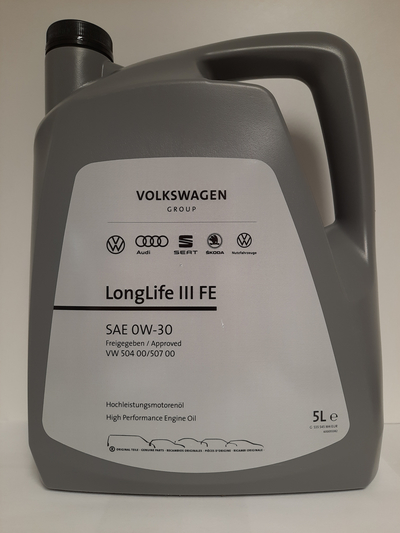 VOLKSWAGEN ORIGINAL LONG LIFE III (VW 504 00, 507) 0W30 5L
