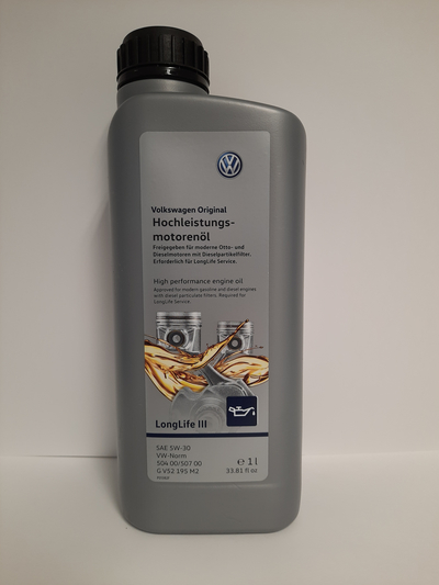 VOLKSWAGEN ORIGINAL LONG LIFE III (VW 504 00, 507) 5W30 1L