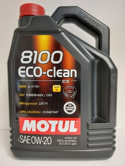 MOTUL 8100 ECO-CLEAN 0W20 5L