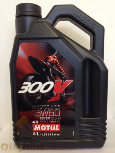 MOTUL 300V 4T FACTORY LINE ROAD RACING 15W50 4L