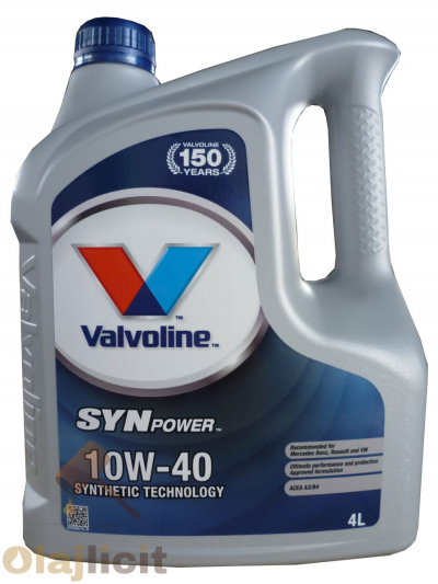 VALVOLINE SYN POWER 10W40 4L